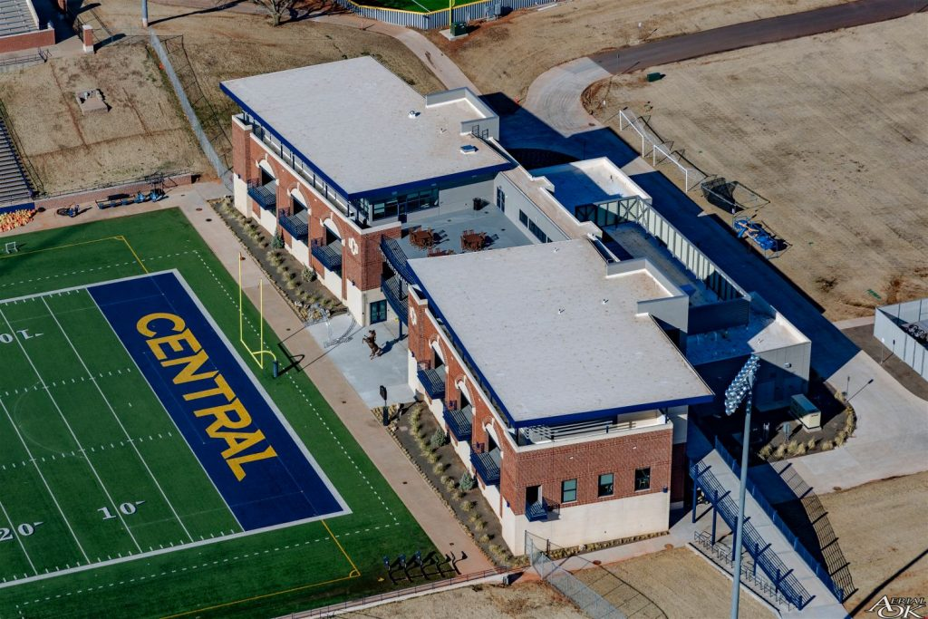 University of Central Oklahoma new roof installation